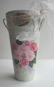 Hand Painted Rose Vase