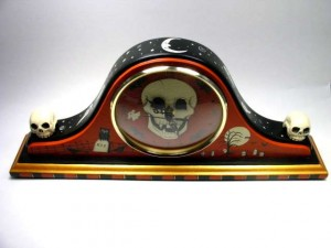 Skull Clock Top View