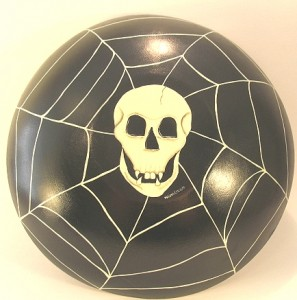 Hand Painted Wood Halloween Bowl
