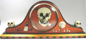 Skull Mantle Clock