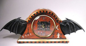 Bat Wing Mantle Clock