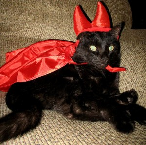 Molly In her Devil Costume