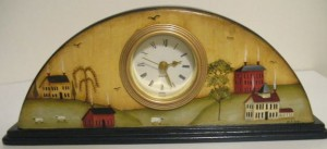 Primitive Houses Clock