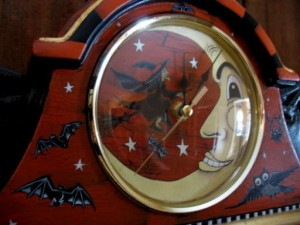 Bat Wing Clock Front